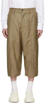 D.gnak By Kang.d Beige Side Long Shorts