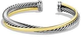 David Yurman Crossover Cuff Bracelet with Gold