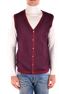 Massimo Rebecchi Men's Mcbi203031o Burgundy Wool Vest.