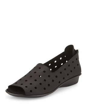 Sesto Meucci Edwina Perforated Open-Toe Slip-On, Black