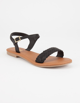 Soda Sunglasses Braided Strap Womens Sandals