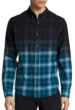Madison Supply Long Sleeve Woven Plaid Shirt