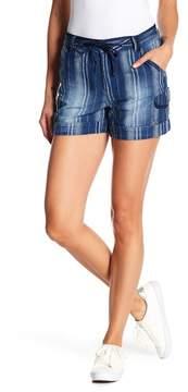 Democracy Chambray Linen Blend Shorts
