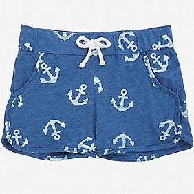 Nautica Little Girls' Anchor Pull-On Short (2T-7)