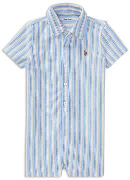 Ralph Lauren Boys' Striped Shortall - Baby