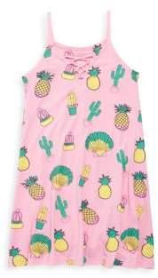 Flowers by Zoe Girl's Cactus Printed Dress