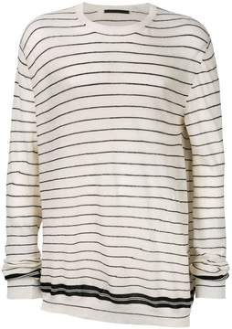 Haider Ackermann striped cashmere jumper