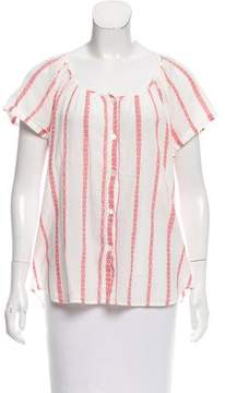 Steven Alan Embroidered Short Sleeve Top