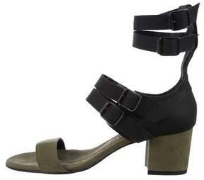 Freda Salvador Suede Ankle-Strap Sandals