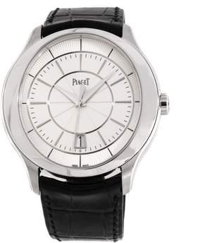 Piaget Gouverneur Silver Dial 18K White Gold Men's Watch GOA38110