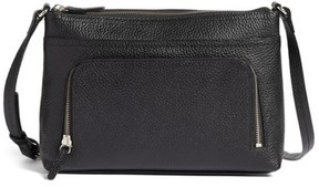 Nordstrom Pebbled Leather Crossbody Bag - Black