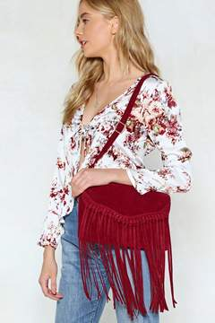Nasty Gal WANT Swing By Sometime Fringe Crossbody Bag