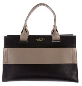 Halston Heritage Bicolor Leather Satchel