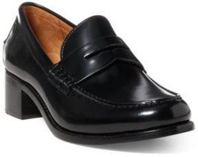 Ralph Lauren Stacie Leather Loafer Black 41.5