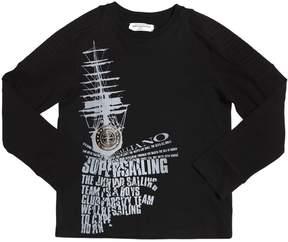 John Galliano Boat Printed Cotton Jersey T-Shirt