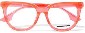 McQ Cat-Eye Printed Neon Acetate Optical Glasses