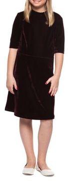 Dex Girl's Velvet Roundneck Dress