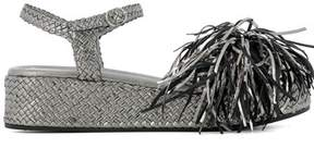 Pons Quintana Women's Silver Leather Sandals.