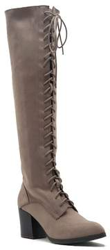 Qupid Wilson Lace-Up Over-the-Knee Boots