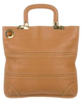 Barneys New York Barney's New York Grained Leather Tote