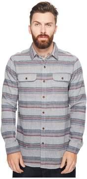 VISSLA Fort Point Long Sleeve Flannel Men's Clothing
