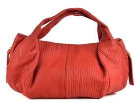 Givenchy Womens Red Aged Leather Rectangular Hobo Shoulder Bag