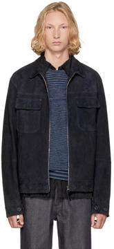 Missoni Navy Suede and Wool Jacket