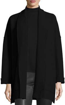 Eileen Fisher Boiled Wool Shawl-Collar Kimono Jacket