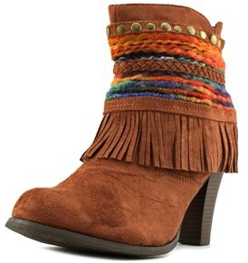 DOLCE by Mojo Moxy Bronco Women Us 10 Brown Ankle Boot.