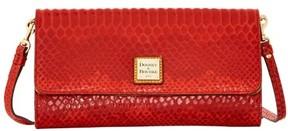 Dooney & Bourke Snake Crossbody Clutch Shoulder Bag - RED - STYLE