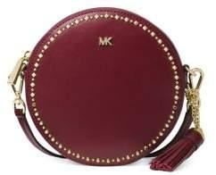 MICHAEL Michael Kors Canteen Embellished Leather Circle Crossbody Bag