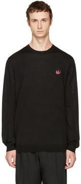 McQ Black Swallow Patch Pullover