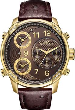 JBW Diamond Mens Brown Strap Watch-J6353a