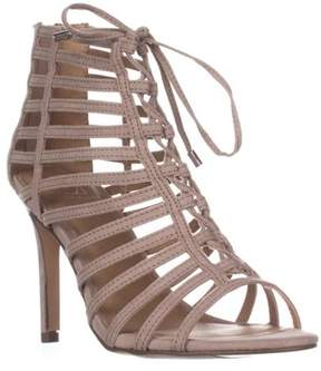 Material Girl Mg35 Raquel Gladiator Ankle Booties, Taupe.