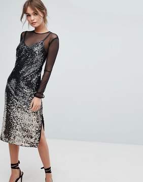 Coast Gisella Ombre Sequin Mesh Dress