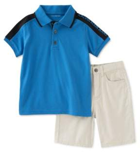 Calvin Klein Boys 2-Piece Shirt & Shorts Rugby Polo Shirt