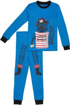 Petit Lem Boy's Cookie Bandit Pajama Set, Blue, Size 2-6X