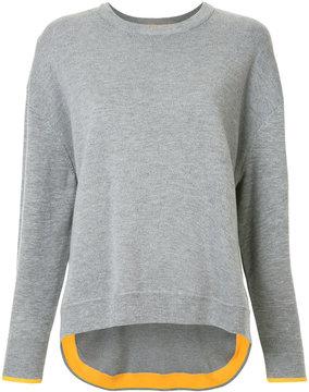Enfold contrast cuffed sweater