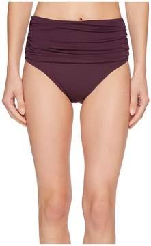 Bleu Rod Beattie Kore Shirred High Waist Bikini Bottom Women's Swimwear