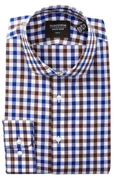 Nordstrom Plaid Print Trim Fit Dress Shirt