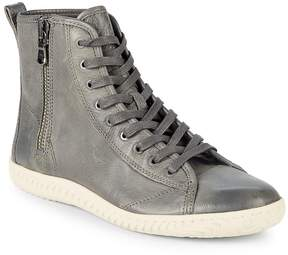John Varvatos Men's Star Leather High Top Sneakers