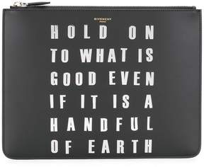 Givenchy studded slogan clutch
