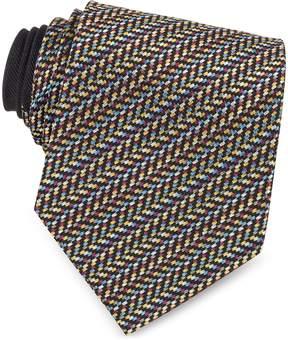 Missoni Diagonal Stripe and Zig Zag Woven Silk Tie