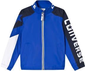 Converse Royal Blue Woven Sports Bomber Jacket