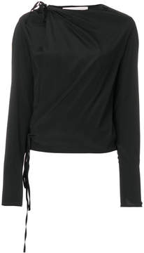 A.F.Vandevorst draped tie detail blouse