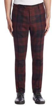 VALENTINO Slim-Fit Plaid Trousers