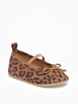 Old Navy Leopard-Print Ballet Flats for Baby