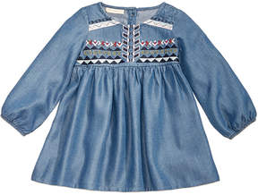 First Impressions Embroidered Denim Dress, Baby Girls (0-24 months), Created for Macy's