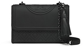 Tory Burch Fleming Matte Small Convertible Shoulder Bag - BLACK - STYLE