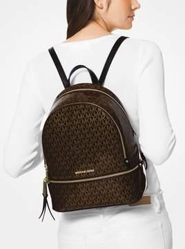 MICHAEL Michael Kors Rhea Medium Glossy Signature Backpack